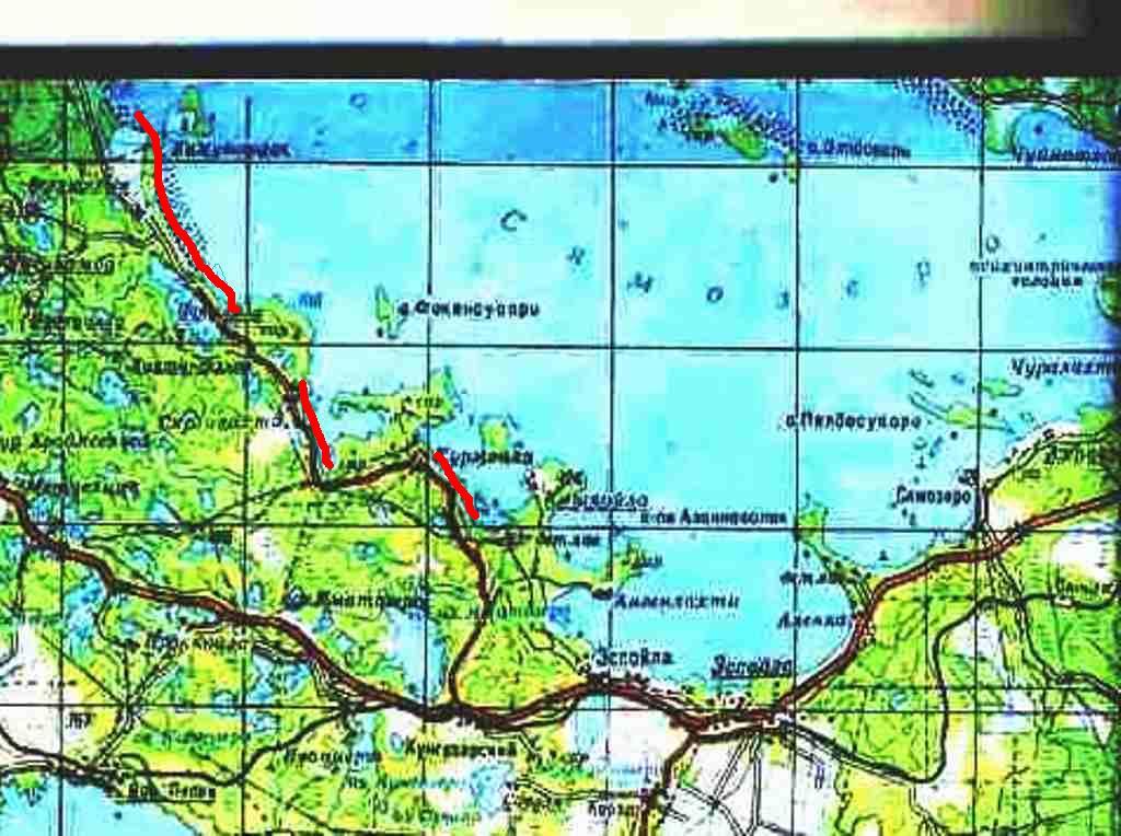 Карта Глубин Сямозеро